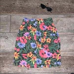 🌼Vintage 90s Floral high waist Skirt 🌸